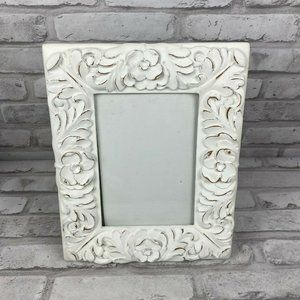 Tabletop Frame Metal Shabby Chic Flowers Distress